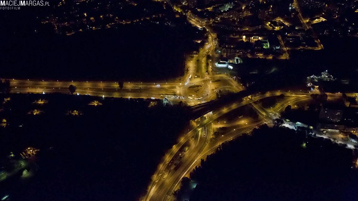 helikmargas-11 Ponad Miastem - nocna Warszawa z lotu ptaka