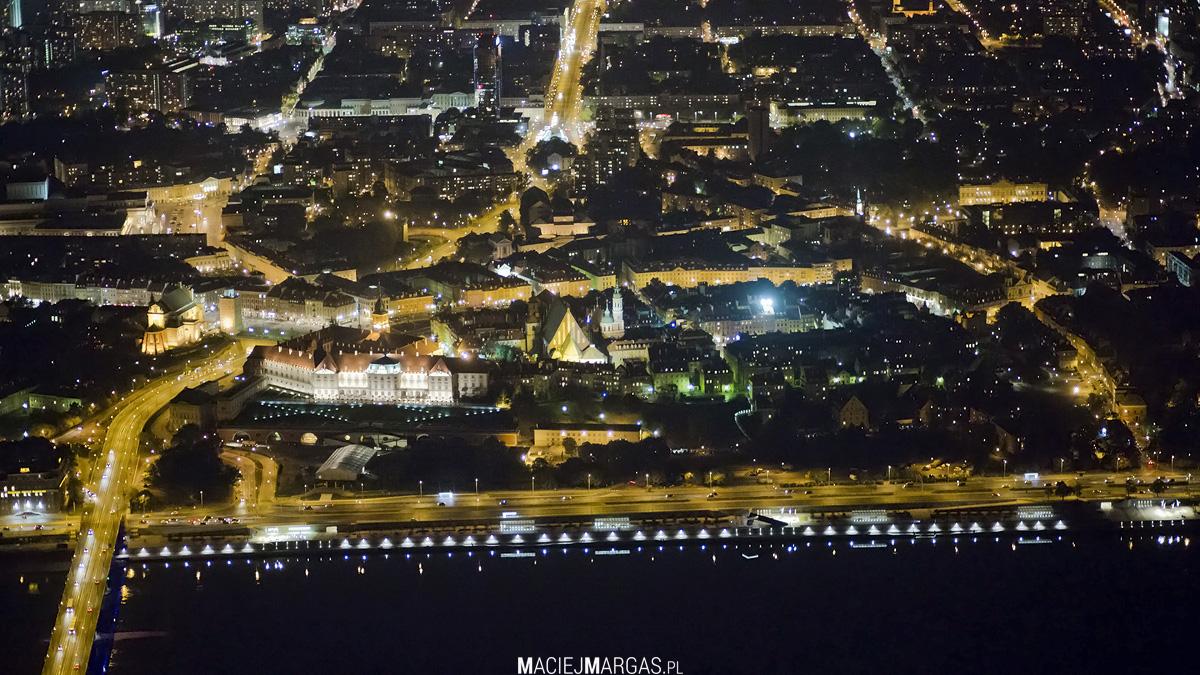helikmargas-3 Ponad Miastem - nocna Warszawa z lotu ptaka