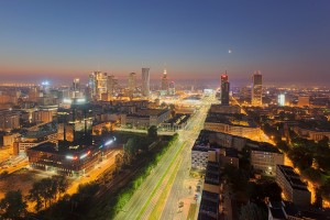 millenium-102-300x200 Panoramy Warszawy | noc