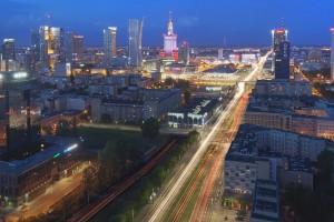 millenium-14-300x200 Panoramy Warszawy | noc