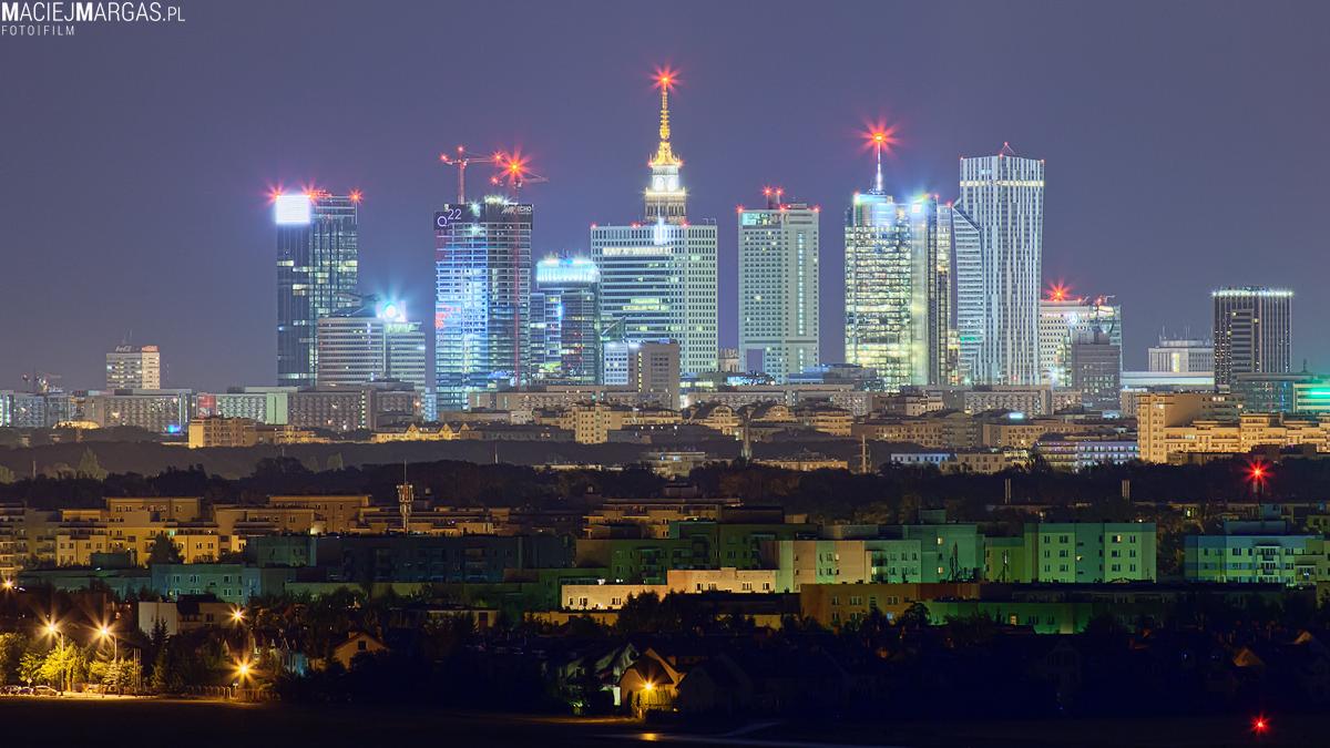 Panorama Warszawy bez PKiN