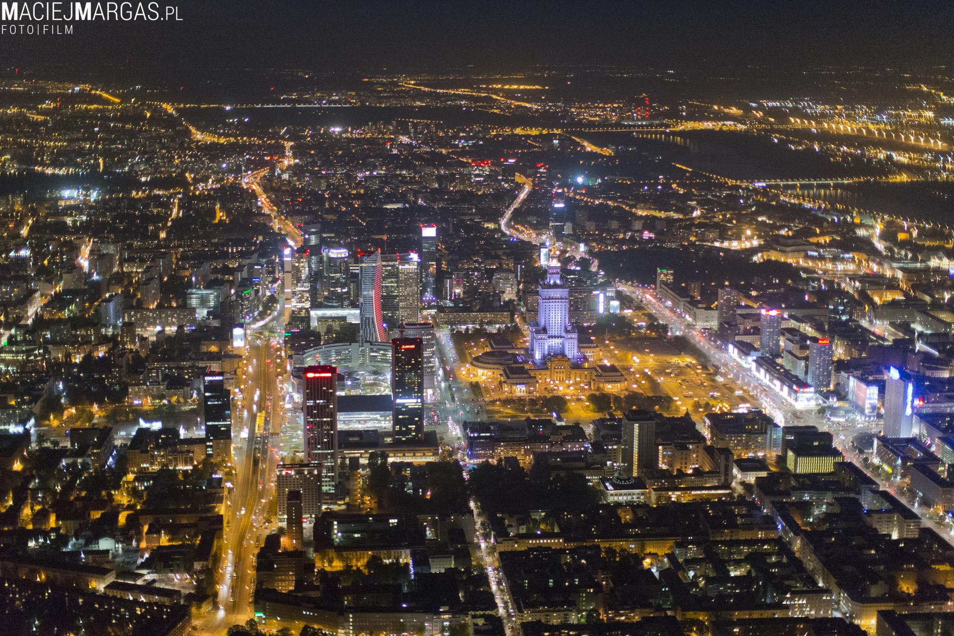 noc00009 Warszawa z lotu ptaka - część 2.