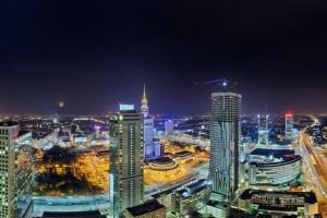 rondo-51-300x200 Panoramy Warszawy | noc