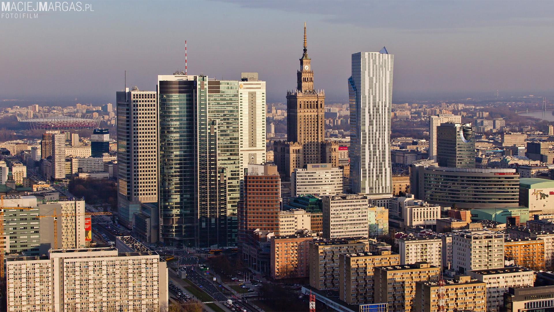 Panorama Warszawy z Warsaw Spire