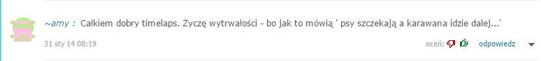 Jeden z moich ulubionych komentarzy Onecie, z pozdrowieniami dla hejterów :)